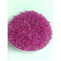 Бисер пр-во Китай цвет: прозрачный с темно-розовой вставкой 100гр