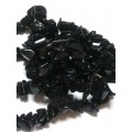 Крошка из натурального крупного камня Авантюрин черный 90см 1 нить