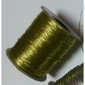 Нить для бисероплетения толщина 1мм цвет: золото 1м