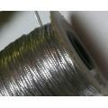 Нить для бисероплетения толщина 1мм цвет: серебро 1м
