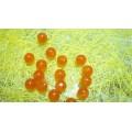 Бусина из натурального камня Кошачий глаз цвет: коричневый D8мм 1шт