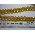Бусина акриловая D8мм цвет: желтый 1шт