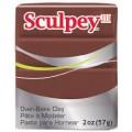 Запекаемая пластика Sculpey III цвет: шоколад 57гр