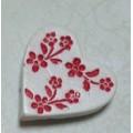 Декоративная акриловая фигурка 2,5см Сердечко цвет: белый 1шт