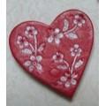 Декоративная акриловая фигурка 2,5см Сердечко цвет: красный 1шт