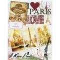Декупажная карта Freedecor А4 Любимый Париж арт.DK3042 70гр./кв.м 1шт