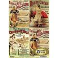 Декупажная карта Vintage Disign А4 Старинная реклама арт.S062 40гр./кв.м 1шт