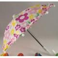Зонт металлический с цветным принтом цвет: розовый 26см 1шт