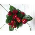 """Декоративные пластиковые фрукты """"Черешня"""" цвет: бордовый"""