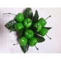 """Декоративные пластиковые фрукты """"Черешня"""" цвет: зеленый"""