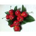 """Декоративные пластиковые фрукты """"Черешня"""" цвет: красный"""