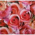 """Упаковочная бумага с принтом """"Розы"""" 50х70см"""