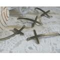 """Коннектор """"Крест"""" цвет: бронза, размер: 56х24х2мм 1/1 1шт"""