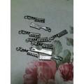 Подвеска для изготовления бижутерии Расческа 25х3мм цвет: античное серебро 1шт