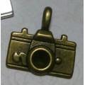 Подвеска для изготовления бижутерии Фотоаппарат 22х20мм цвет: античная бронза 1шт