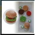 """Форма пластиковая для изготовления мыла """"Гамбургер"""" 1шт"""