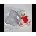 """Форма для изготовления мыла """"Мишка с сердцем"""" 1шт"""